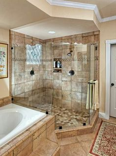 Master bedroom bathroom traditional bathroom master bedroom design pictures remodel decor and ideas page love this Rustic Bathrooms, Dream Bathrooms, Beautiful Bathrooms, Narrow Bathroom, Luxury Bathrooms, White Bathroom, Classic Bathroom, Chic Bathrooms, Small Bathrooms