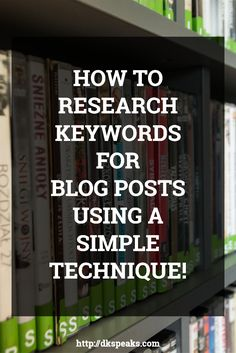 Learn a simple tip on how to Research Keywords for Blog Posts without getting frustrated. Keyword research is one of the most complicated things in internet marketing and to research keywords for blog posts is an even difficult process. Learn how to research keywords for blog posts in this podcast about keyword research. social media tips   Blogging tips   Keyword research   Internet Marketing   how to make money blogging
