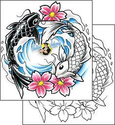 Koi Tattoo marine-life-fish-tattoos-cherry-creek-flash-ccf-00362