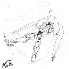 Soundwave making a snow angel. This has got to be the cutest thing I've seen in a while. ^^