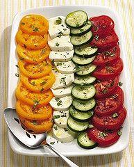 Cucumber and Tomato Salad Caprese Recipe | Flickr - Photo Sharing!