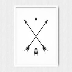 INSTANT DOWNLOAD: Black and White Printable Arrow Three Crossed Poster Print If you want the poster in the international ISO standard (A3