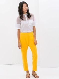 Pantalon jaune flash de chez Zara!
