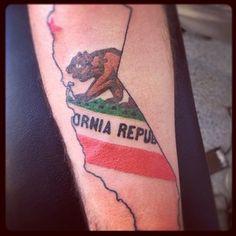 Ohio state tattoos on pinterest ohio tattoo south for California flag tattoo designs