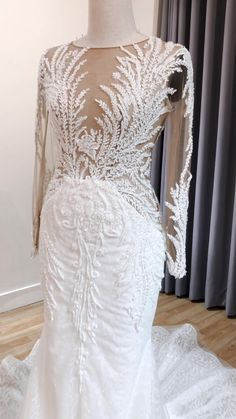 Mermaid Wedding Dress With Sleeves, Fit And Flare Wedding Dress, Custom Wedding Dress, Elegant Wedding Dress, Sparkle Wedding, Boho Wedding, Dream Wedding, Bridal Outfits, Bridal Dresses