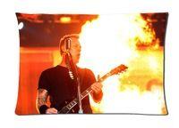 Custom Metallica Guitarist Show Fire 50x75cm Soft pillow cover good quality pillowslips pillow cases cover bedding