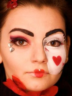 Poker Face (cards,make up,suits,red,black,photography)