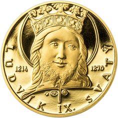 LUDVÍK IX. FRANCOUZSKÝ - 800. VÝROČÍ NAROZENÍ ZLATO Egypt, Coins, Personalized Items, Coining