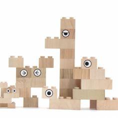 Mokulock doos 28 houten bouwstenen