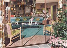 1950s Mid Century Living Room by American Vintage Home