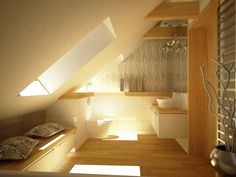 Aranżacja nowoczesnej łazienki na poddaszu