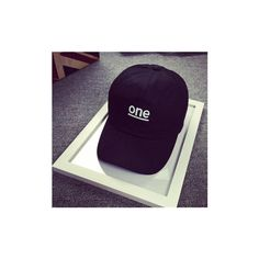 Unisex Letter Black Hat Hip Hop Kpop Curved Strapback Adjustable... ($8.14) ❤ liked on Polyvore featuring accessories, hats, white, ball cap, initial caps, baseball caps, white cap and white brim hat
