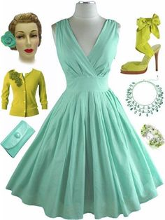 Vintage....why oh why don't they make fab dresses like this now!