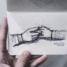 """""""[...] Se você tiver a certeza que vai ver a outra  envelhecendo e, mesmo assim, tiver a convicção que vai continuar sendo louco por ela... Se você preferir fechar os olhos, antes de ver a outra partindo: é o amor que chegou na sua vida. [...]"""" [Arthur da Távola]  Dia 45... #Pense #Reflita #Inspire_se #ArteEPoesia #desenhosdoalti #desenhos #sketch #sketchers #sketchbook #art #artlovers #artbrazil #artworks #instaart #instartist #illustration #Weekend #dibujo #Pen #UmDesenhoPorDia #draw…"""