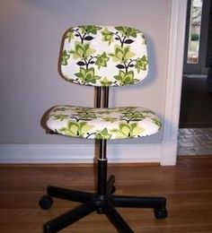 reupholstered office chair tutorial just picked one up at goodwill