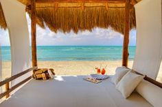 Beach bed at Azul Sensatori, Mayan Riviera, Mexico {Azul Hotels, by Karisma}