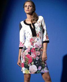 Fehu White Floral Print Tunic 53201
