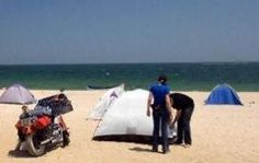 beach camping locations in CA, Myrtle Beach, and Virginia Beach