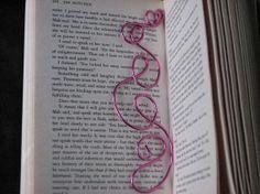 Dark pink wire bookmark by KatKeRosCorner on Etsy, $20.00