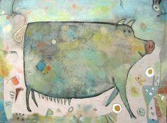 Pork and Beans ©Barbara Olsen acrylic on canvas 36x48