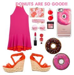 """""""Donuts are so good!!"""" by l-e-y-l-i-674 ❤ liked on Polyvore featuring Casetify, Round Towel Co., Diane Von Furstenberg, Casadei, New Look, ZeroUV, Hring eftir hring, Givenchy, MAC Cosmetics and deliciousdonuts"""