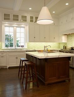 Dark Stained Kitchen Cabinets Hardwood Floors Picture