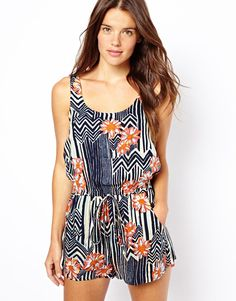 c4fdff0875c8 MinkPink Maui Print Playsuit - I wore jumpsuits like this years ago. Katie  Lee · Playsuits and Overalls