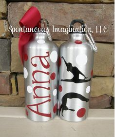 73f2f80cc7 Personalized Alumimun Water Bottle -Gymnastic Gift Ideas Gymnastics Gifts,  Aluminum Water Bottles, Bags