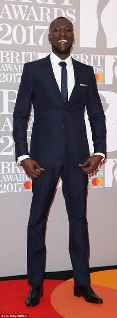 Stormzy dressed to impress as they made their grand arrival