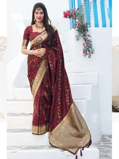 Maroon color soft silk weaving saree online india | ₹3,550.00 | Visit Now : www.grabandpack.com | Contact us/ Whats app us on +919898133588, +917990485004 | Ship to All major Counties Like USA , Maurtius , Malaysia , Saudi Arabia , West Indies , Australia , Bangladesh , South Africa ,U.K , Canada ,Singapore , UAE etc. To Buy this Beautiful saree At Best Price | Design : RC004