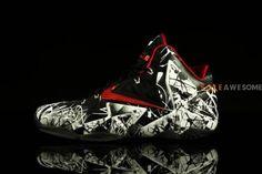 NIKE LEBRON 11 XDR WHITE/LIGHT CRIMSON-BLACK #sneaker