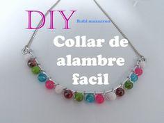 Diy. Collar facil de alambre de aluminio con cuendas
