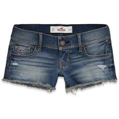 Hollister Co Hollister Classic Short Shorts ($35) ❤ liked on Polyvore