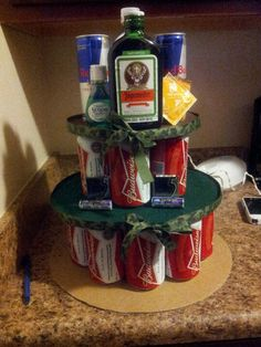 Cammo beer cake for diaper party would be funny