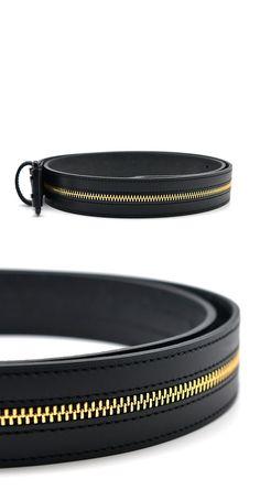 Accessories :: Silver Star Gold Zipper Designer-Belt 142 - GUYLOOK Men's Trendy…