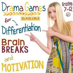 ELA Drama Games Bundle for Brain Breaks, Differentiation, & Motivation Gr. Drama Activities, Drama Games, Educational Activities, Classroom Procedures, Social Studies Classroom, Too Cool For School, School Fun, School Days, Middle School