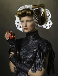 """The Terrier and Lobster: """"The Master and the Girl"""": Ymre Stiekema in Dutch Old Master-Inspired Portraits by Erwin Olaf for Vogue Netherlands..."""
