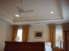 Four recessed lights with fanlight in middle doodle rooms we could put rope lighting on the top side of the trim and have the option to just use that lighting if we want it darker or turn on the recessed lighting aloadofball Gallery