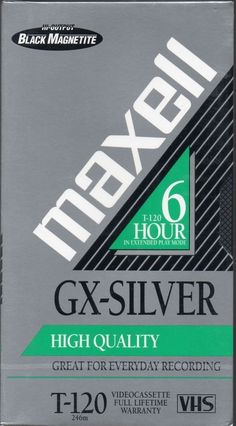 ONE NEW BLANK VHS TAPE MAXELL T-120 GX SILVER HIGH QUALITY 6 HOURS SEALED in Consumer Electronics, TV, Video & Home Audio, TV, Video & Audio Accessories | eBay