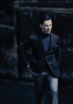 Benedict Cumberbatch for Esquire, November 2013. Photographer: Julian Broad.