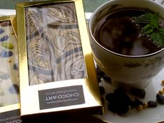 handmale dark chocolate with cocoa beans from Java