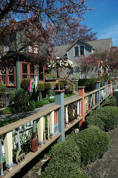 Bunnies by the Bay Studio in LaConner Fabulous Fence by aliciadesign, via Flickr