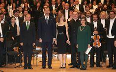 Los Reyes en el concierto previo de los Premios Princesa de Asturias 2016