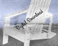 Folding Adirondack Chair Blueprint, Vintage Woodworking Plans, Patio Deck Outdoor Furniture, DIY 1960s Plans, PDF Instant, Digital Download.#Blueprint #Adirondacks, #AdirondackChair
