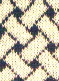Strickmuster Buntes Flechtwerk selbstgestrickt, ein auffallendes Muster, das in zwei kontrastreichen Farben besonders überzeugend wirkt