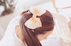 sheer pink hair bow