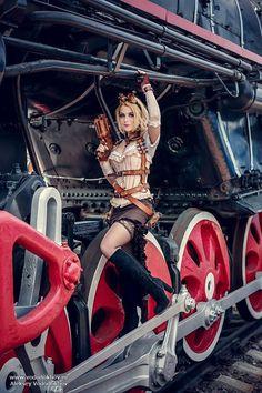 Irina Pirozhnikova (If not YOU, then WHO? https://vk.com/captain_irachka ) by Alexey Vododochov,   via Steampunk Girls