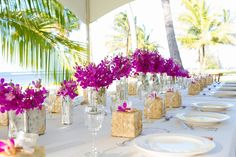 Tammey's Flowers :: JeanneMarie Photography :: table design by J Squared Events :: Antonio Sabato, Jr. :: #Kauai #Hawaii #wedding