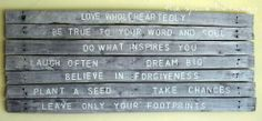 Create word art for your wall on a beautifully weathered pallet.