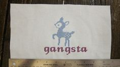 gangsta bambi subversive cross stitch on by MademoiselleRobot